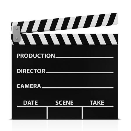clap: Cinema Clap isolated on white background Stock Photo