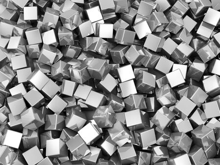 aluminum texture: Abstract Background of Metal Cubes Stock Photo