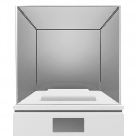 Empty Presentation Showcase isolated on white background Stock Photo - 22914215