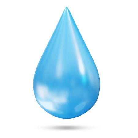 splashy: Clean Water Drop isolated on white background
