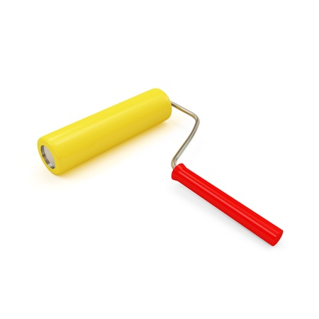 Paint Roller isolated on white background photo