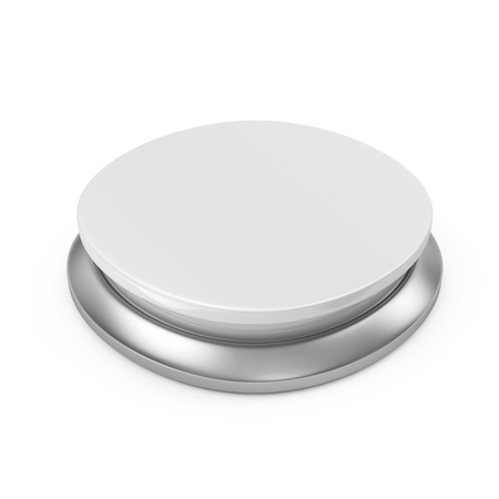 Empty Button isolated on white background photo