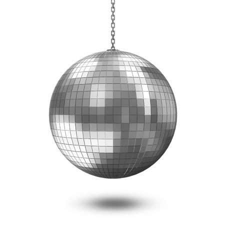 Disco Ball isolated on white background photo