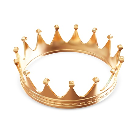 couronne royale: Golden Crown isol� sur fond blanc