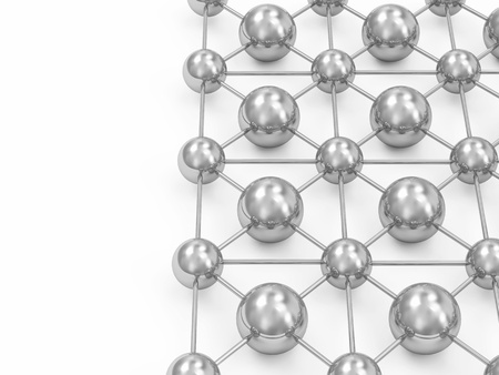 silver balls: 3d Illustration of Network Concept with place for your text