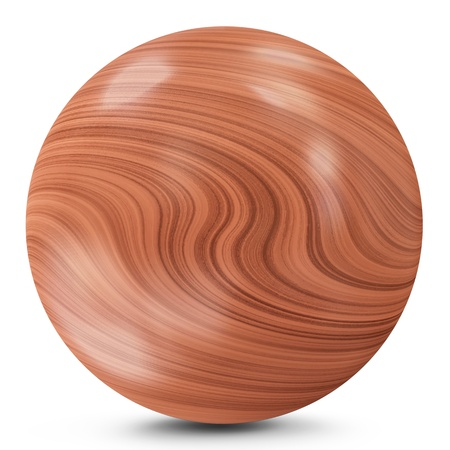 Wooden Ball isolated on white background photo