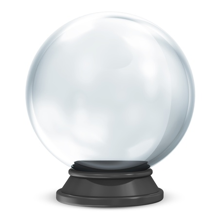 3d ball: Empty Crystal Ball