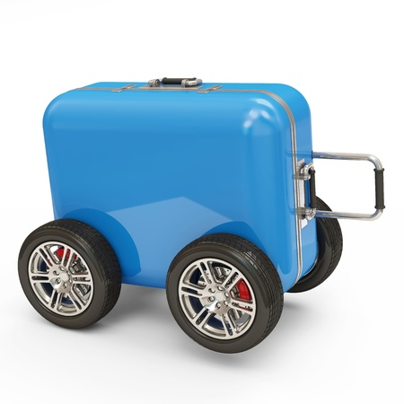 Suitcase on Wheels  photo