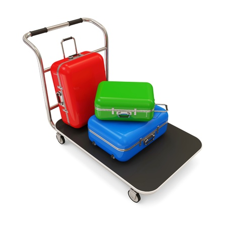 emergency cart: Service Cart with Luggage
