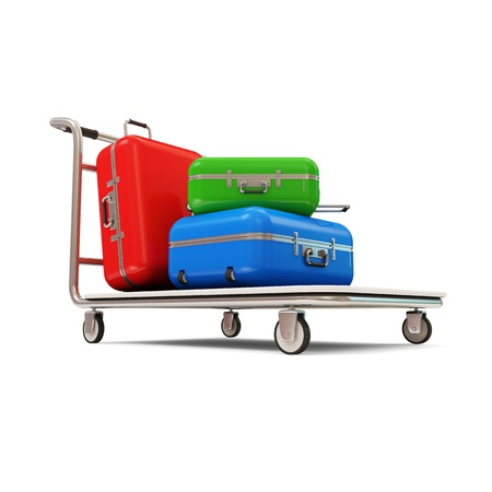 Service Cart with Luggage  photo
