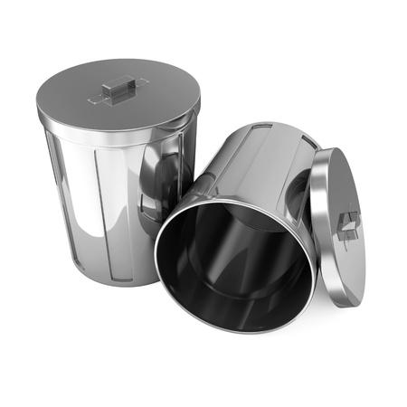 galvanized: Metal Trash Can