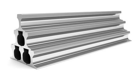steel bar: Group of Metal Rails