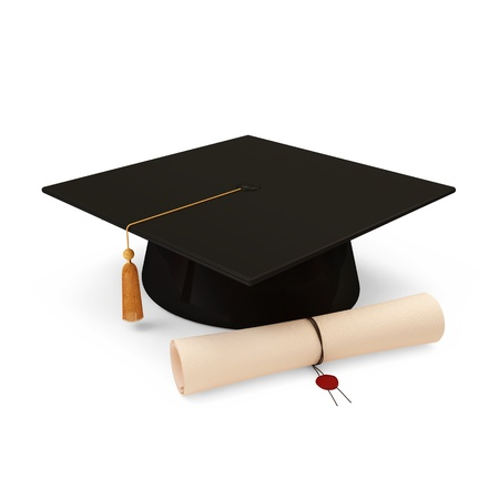 study icon: Graduation Cap and Diploma
