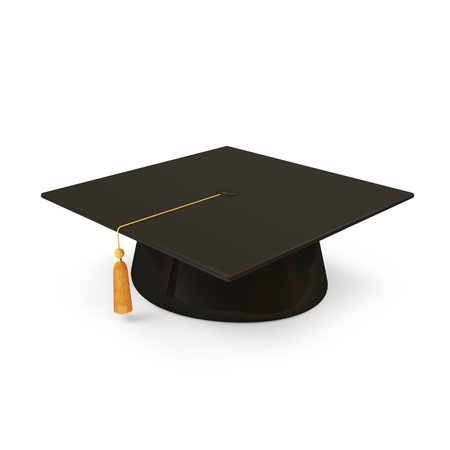 cap and gown: Graduation Cap  Stock Photo