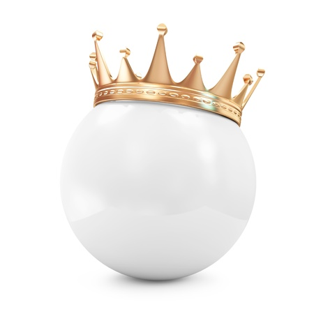 Golden Crown on White Ball  photo