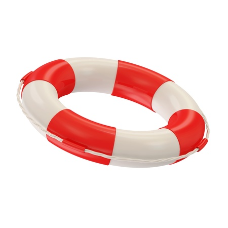 salvavidas: Red salvavidas aislados sobre fondo blanco