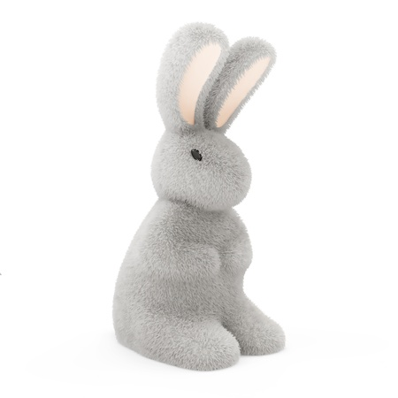 Furry Bunny isolated on white background