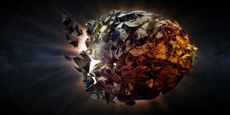 Abstract Illustration of Armageddon - Planet Earth Disaster illustration