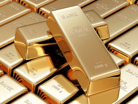 treasury: Golden Bars Abstract Background