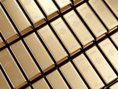 gold ingot: Golden Bars Abstract Background