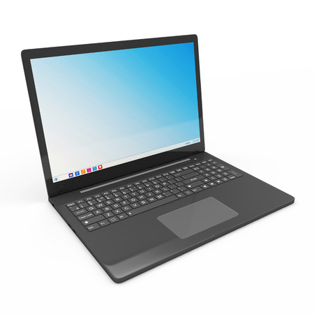 ultrabook: Modern Laptop isolated on white background