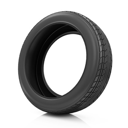 retreading: Car Tire Icon isolated on white background Stock Photo