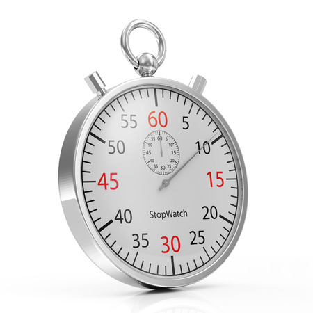 timescale: Stopwatch isolated on white background