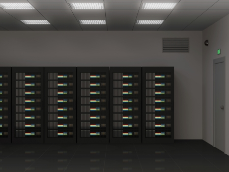 renderfarm: Modern Interior of Server Room