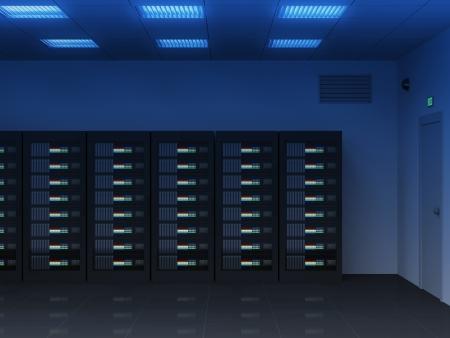 Modern Interior of Server Room photo