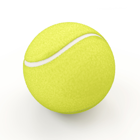 3d ball: Tennis ball isolated on white background Stock Photo
