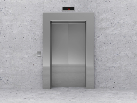Modern Elevator with Closed Doors Banco de Imagens