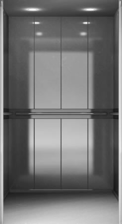 shiny floor: Modern Elevator close up