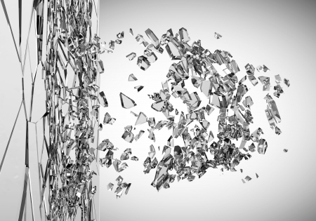 shattered glass: Abstract Illustration of Broken Glass on gradient background Stock Photo