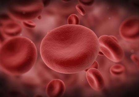 coagulation: Red Blood Cells Flowing Through Vein