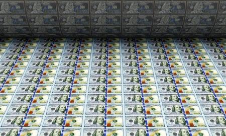 banco dinero: Impresi�n de dinero Nuevos billetes de 100 d�lares