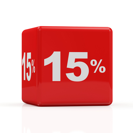 percentage sign: Discount Cube Collection isolated on white background  15   Stock Photo
