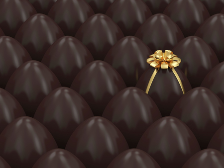 Chocolate Easter Egg Conceptual Image Stock Photo - 25163178
