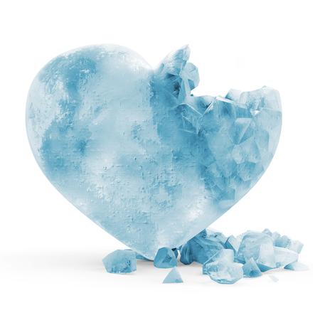 Frozen Heart isolated on white background photo
