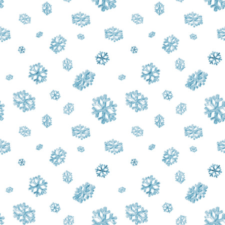 snow crystal: Icy Snowflakes Seamless Pattern Background