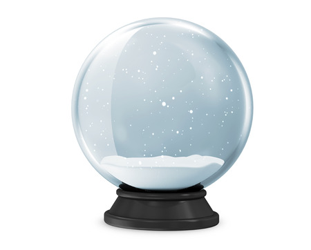 Snow Globe isolated on white background 版權商用圖片