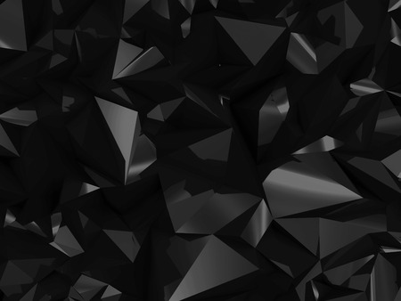 3d background: Abstract Black Geometry Background