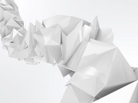 geometria: Resumen arrugado Onda triangular Geometr�a Foto de archivo