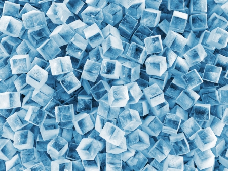 Heap of Ice Cubes Abstract Background photo