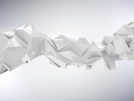 mértan: Absztrakt gyűrött Háromszög hullám Geometry Stock fotó