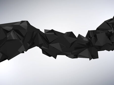 rumpled: Abstract Rumpled Triangular Wave Geometry Stock Photo