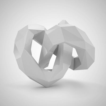 polyhedron: Abstract Polygonal Geometric Shape Stock Photo