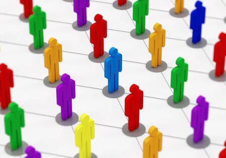 población: Colorful People Red Social Network Concept Foto de archivo