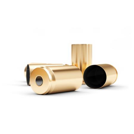 gun shell: Pistola Shell Cubiertas aisladas sobre fondo blanco