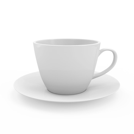 Blank Coffee Cup isolated on white background photo