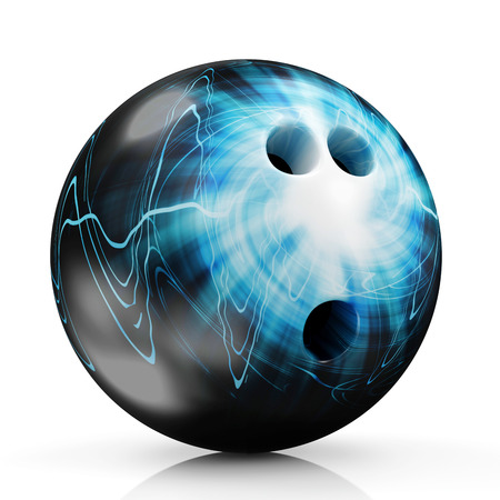 Painted Bowling Ball isolated on white background photo